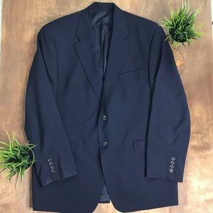 CHAPS Blue Suit Jacket/Blazer (Size 46R)